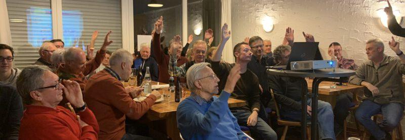 Gute Stimmung bei der Mitgliederversammlung des TC Heimsheim